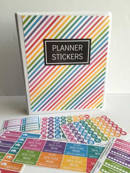 planner sticker binder a5 printable notebook cover how to organize planner stickers diy organization free printable rainbow-min