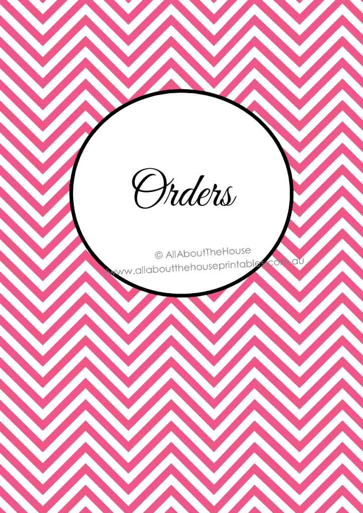 orders tracker, planner dividers, printable, business planner, etsy, shop, organizer, order management, customer, order book,