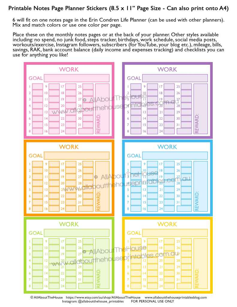 work-routine-schedule-tracking-hours-printable-rainbow-planner-sticker-shift-business-work-at-home-invoicing-erin-condren-planner-insert-happy-planner-notes-page-min