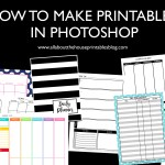 How to Make Printables in Photoshop (step by step video tutorials)