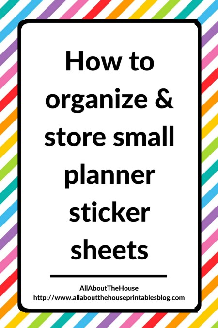 How to organize and store small planner stickers sampler functional printable label sheet paper printable craft planner addict