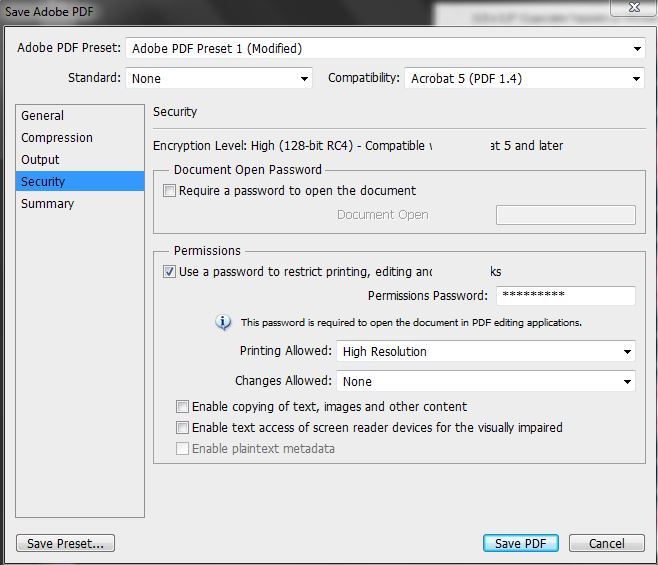 choosing a password saving pdf, how to make printables in Photoshop