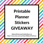 Planner stickers giveaway & how to make printables in Photoshop ecourse coming soon!