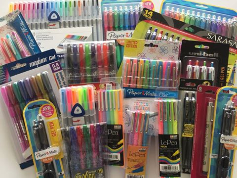 favorite planner pens review planner accessories papermate inkjoy sarasa pilot g2 fine tip gel flair le pen triplus