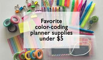 Favorite color coding planner supplies under $5