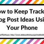 How to keep track of blog post ideas on your iPhone (no paid app required!)