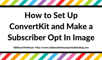 How to Set Up ConvertKit and Make a Subscriber Opt In Image