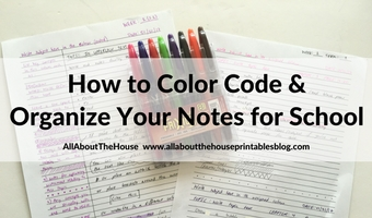 How to organize and color code your notes for school, college or university