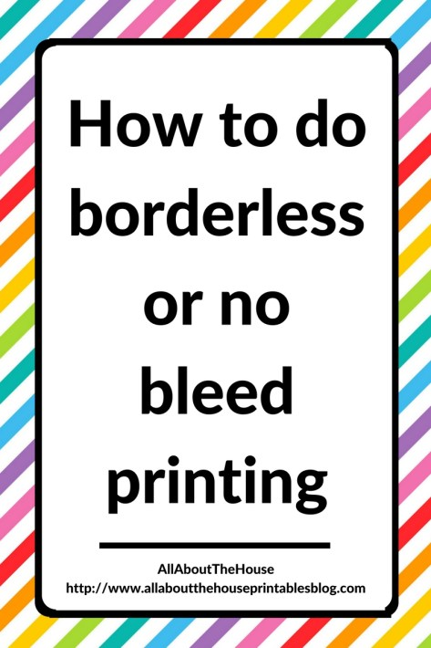 how to do borderless or no bleed printing tips planner tutorial diy planner insert no white border custom page size tutorial