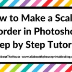 How to make a scallop border in Photoshop (step by step tutorial) plus free printable color coded note paper