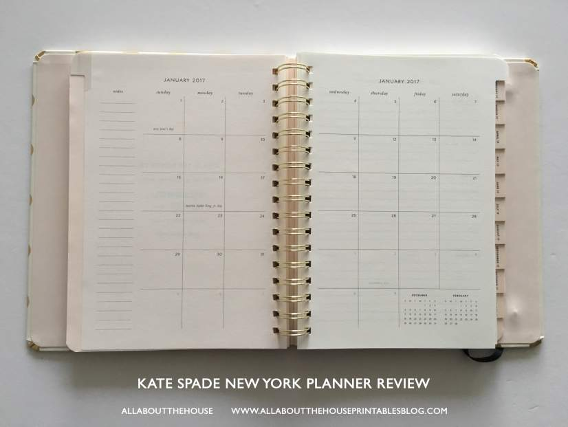 kate spade new york planner review best planner for 2017 agenda review a5 horizontal lines study school-min