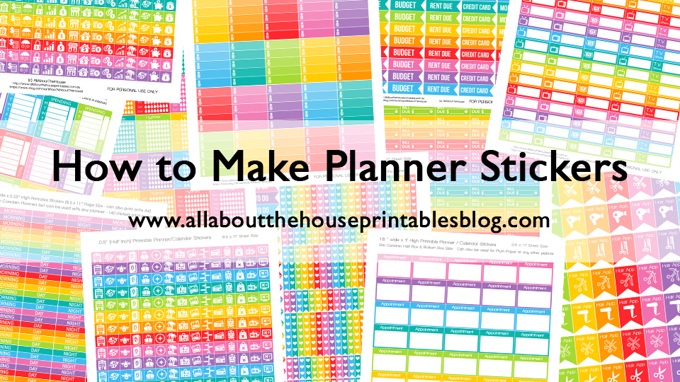 How to make diy planner stickers with silhouette studio or for Create your own planner online