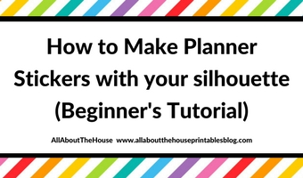 How to make planner stickers for free using Silhouette Studio (Introduction – Video Tutorial)