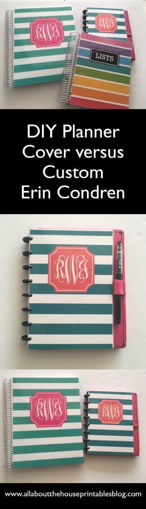 Erin condren planner review diy cover versus custom cover printable free planner cover insert planner hack cheap diy personalised custom weekly daily