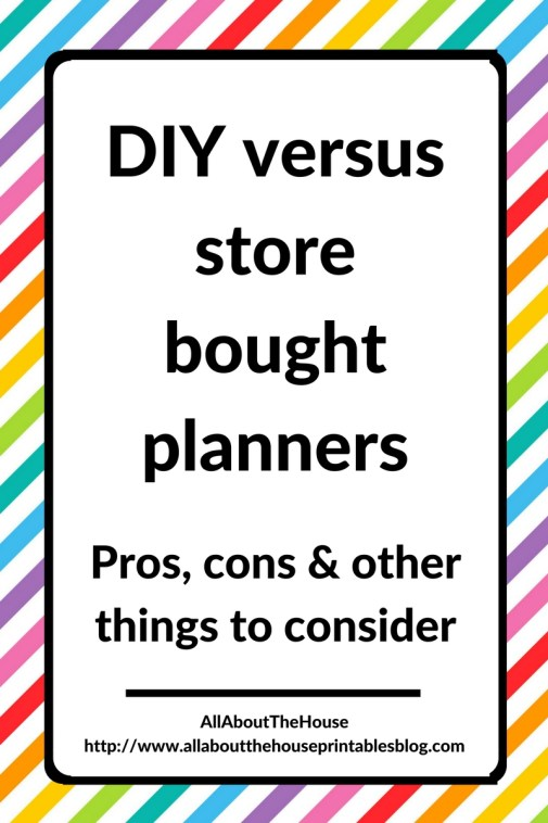 diy versus store bought planner make your own custom planner cheap planning hack inspiration journal review blog addict junkie