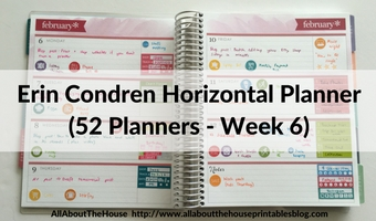 Planning using the Horizontal Erin Condren Life Planner (52 Planners in 52 Weeks – Week 6)