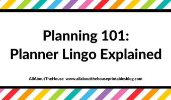 Planning 101: Planner lingo (what does it all mean?)