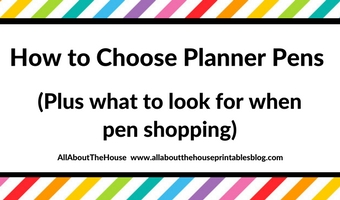 How to choose the right planner pens: what to look for when buying planner pens