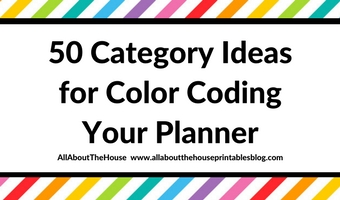 50 Category Ideas for Color Coding Your Planner