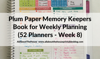 Weekly Planning using the Plum Paper Memory Keeper Book (52 Planners in 52 Weeks: Week 8)