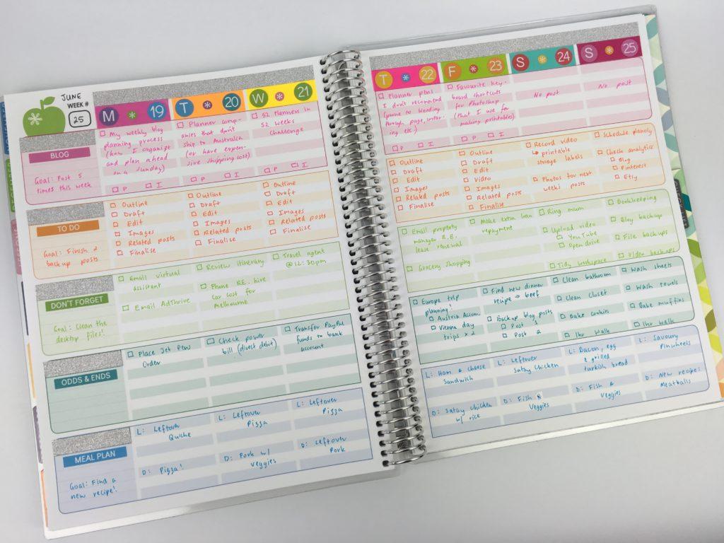 Using The Erin Condren Teacher Planner For Weekly Planner