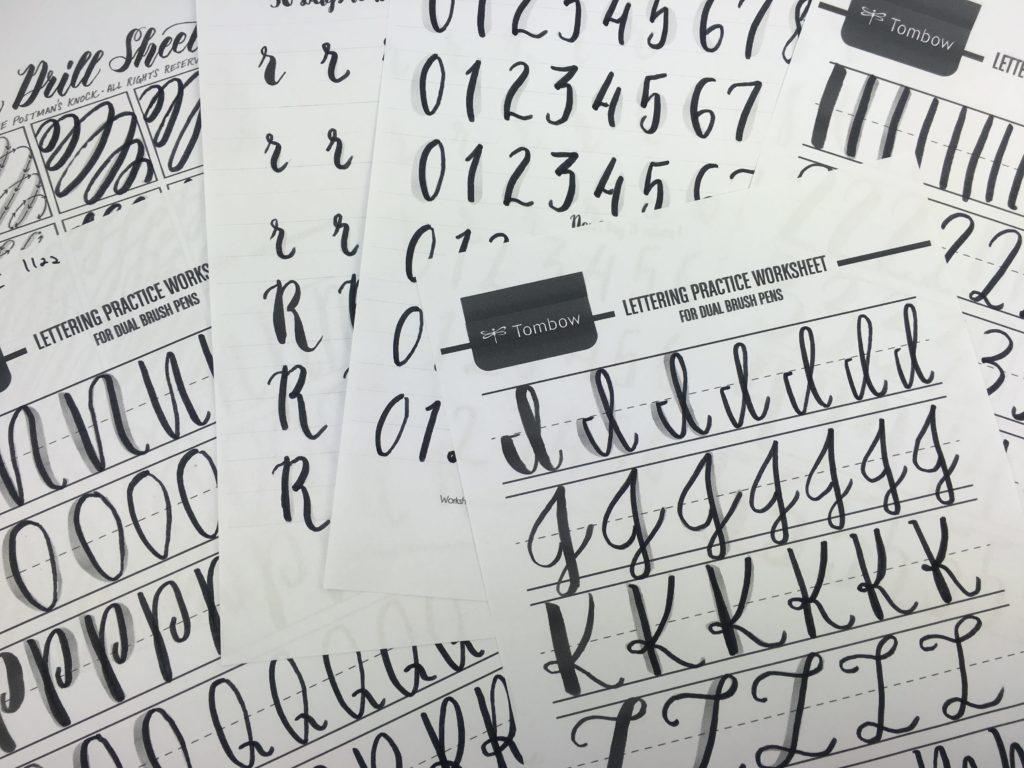 Hand Lettering Worksheet Download