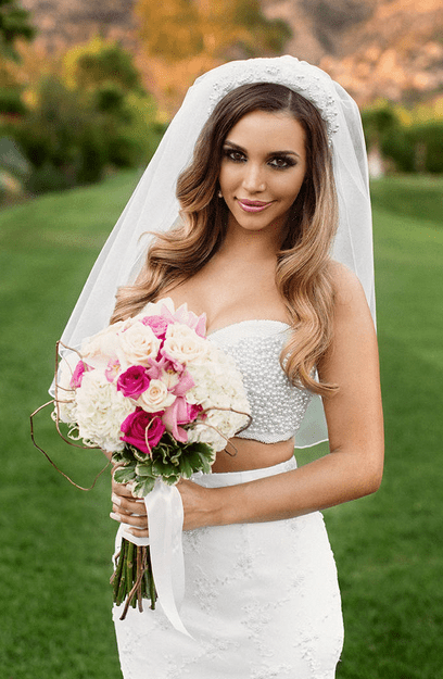 PHOTO Scheana Marie Bares Stomach In Cropped Top Wedding Dress