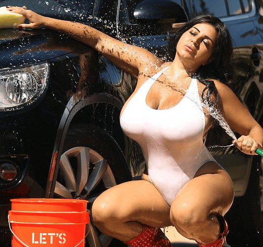 Old Curvy Wife Naked Car Wash