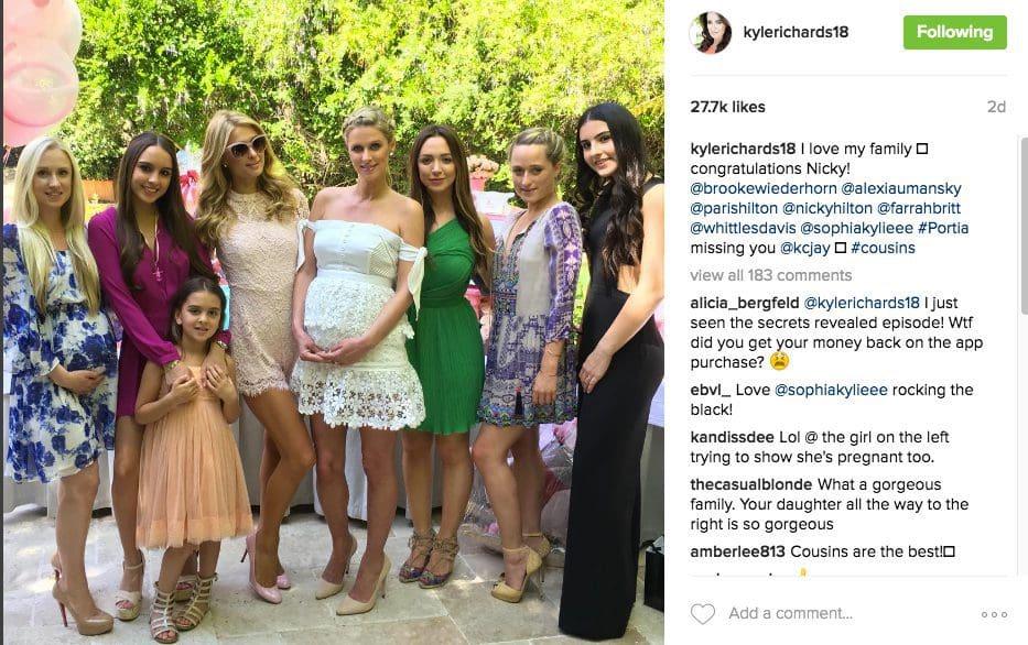 Kyle Kim Richards Attend Nicky Hilton Rothschilds Baby Shower