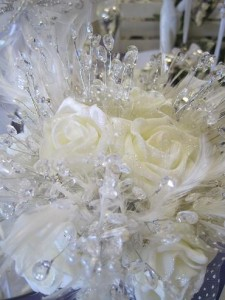 ivory crystal bouquet