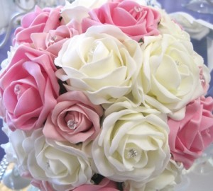 ivory and pink mix