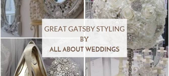 Great Gatsby Wedding Styling by All About Weddings