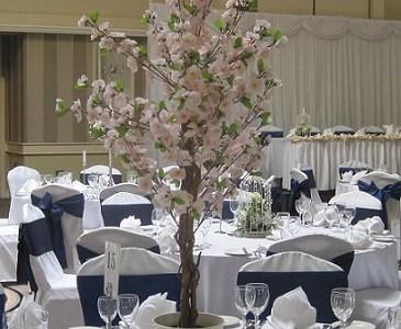 Cherry Blossom Wedding Centrepieces