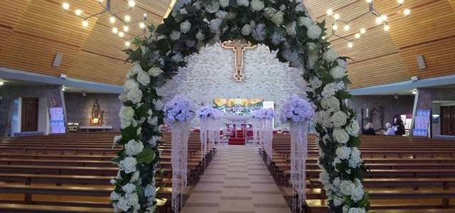 Ceremony Decor at The Holy Spirit Church, Walkinstown