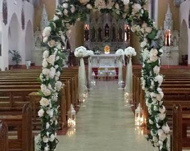 Ceremony Decor at St. Mary of the Angels Church, Dublin