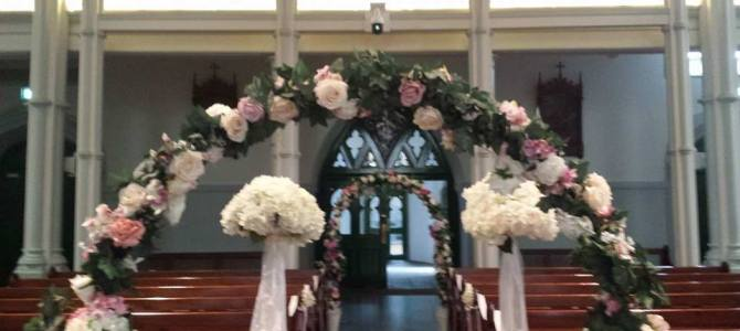 Wedding Decor at Our Lady and Saint David's Church in Naas