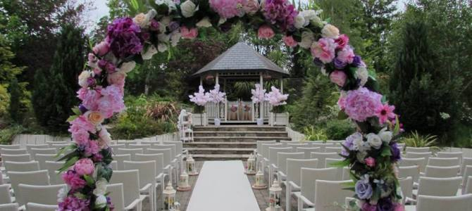 Ceremony Decor at Amber Springs Hotel, Wexford