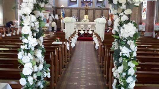 Church Ceremony Decor at Roundwood Church, Co. Wicklow