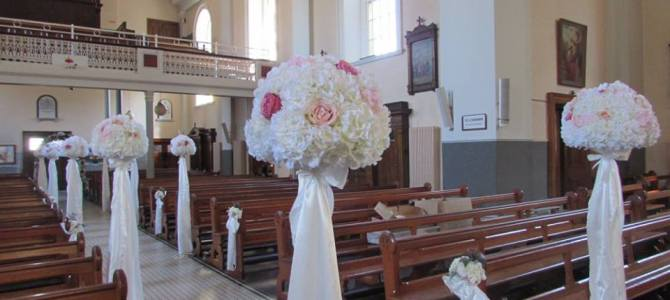 Ceremony Decor at St Mary & Peters Church, Arklow, Co. Wicklow