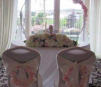 Ceremony Decor at The Ashdown Park Hotel, Gorey, Co. Wexford