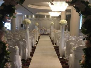 Ceremony Decor & Venue Styling at the Salthill Hotel Galway