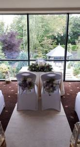Ceremony Decor at The Amber Springs Hotel, Gorey