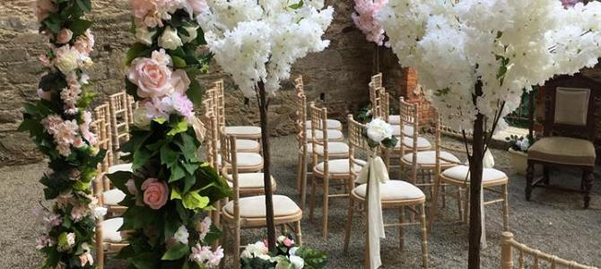 Ceremony Decor at Wilton Castle