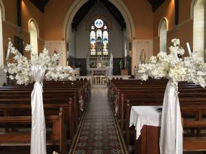 Ceremony Decor at Aughrim Church and Venue Styling at The Brook Lodge Macreddin