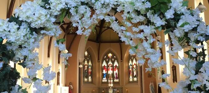 Ceremony Decor at Our Lady, Star of the Sea Church,  Duncannon, Co. Wexford