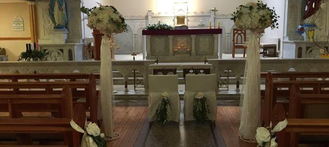 Ceremony Decor at Kildorrery Church Cork