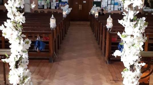 Ceremony Decor at Cabra Church by All About Weddings