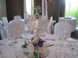 vintage wedding decor at Tulfarris Hotel