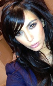 Kim Kardarshian new hair do/instagram