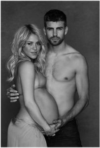 Shakira with Gerard Pique/twitter